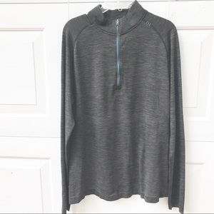 Lululemon men's half Zip Shirt Large L surge
